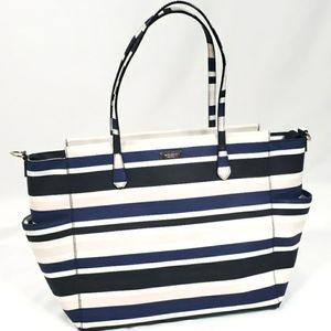 Kate Spade Large Stripe Blue Pink Tote Baby Bag